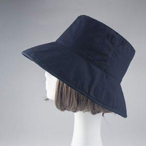 mũ rộng vành pattern xanh navy