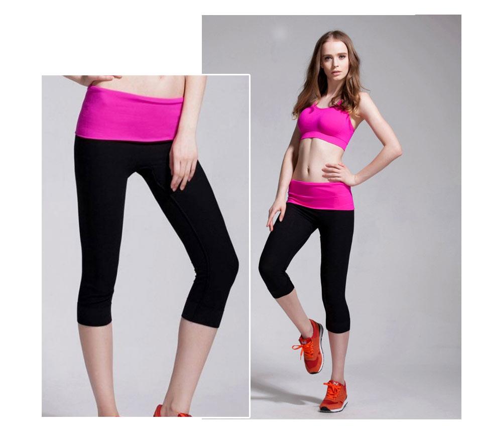 quần legging power training hồng đen
