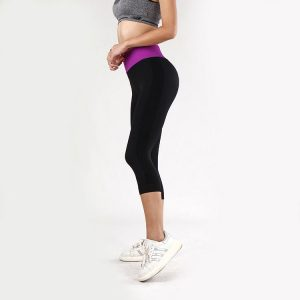 quần legging power training tím đen