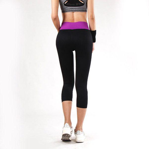 quần legging power training tím đen