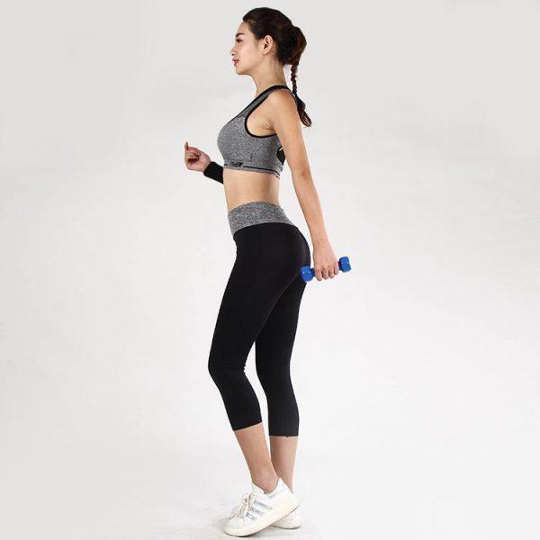 quần legging power training xám đen