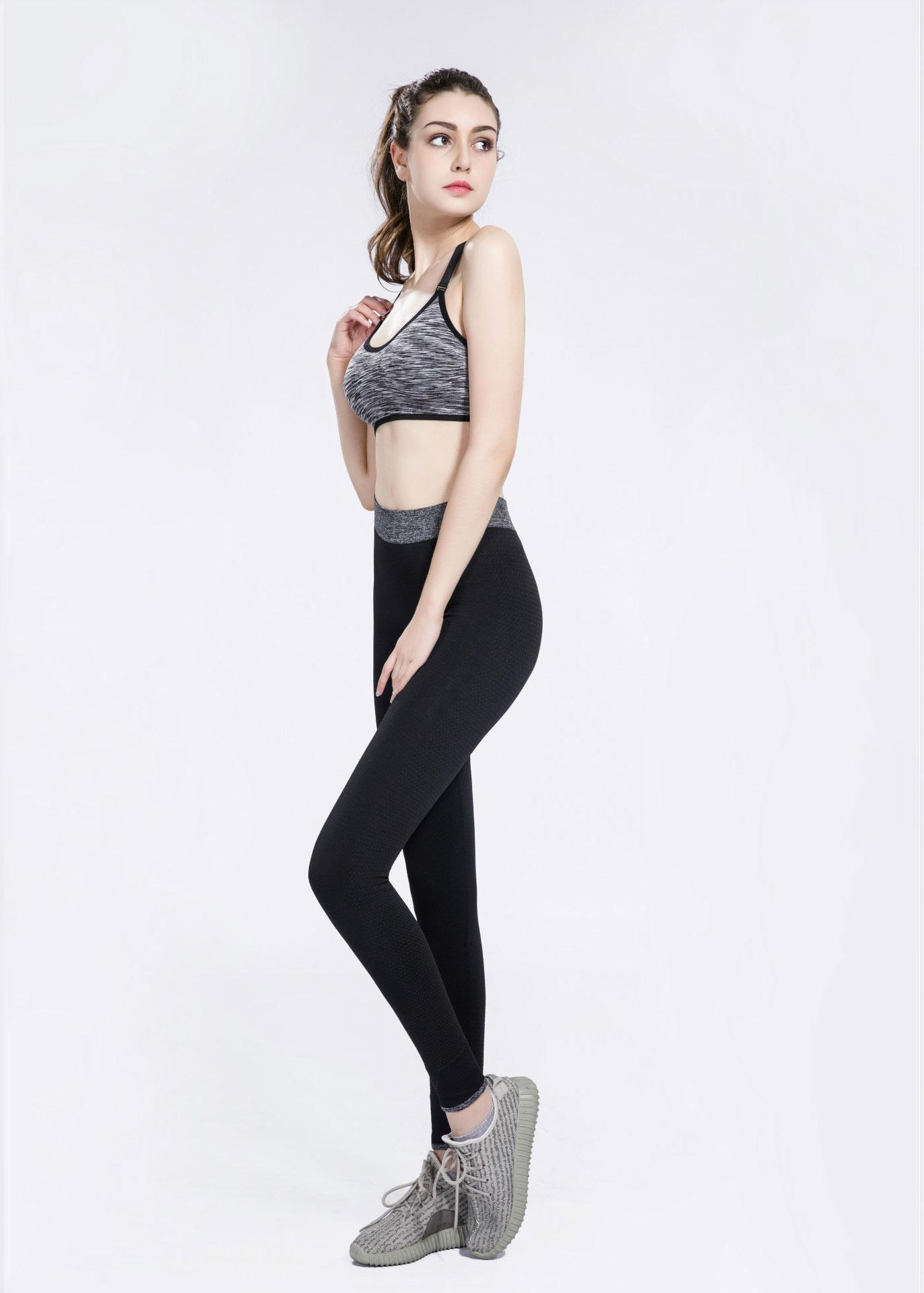 quần legging dệt đen