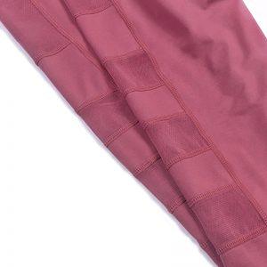 Quần legging lửng grid hồng