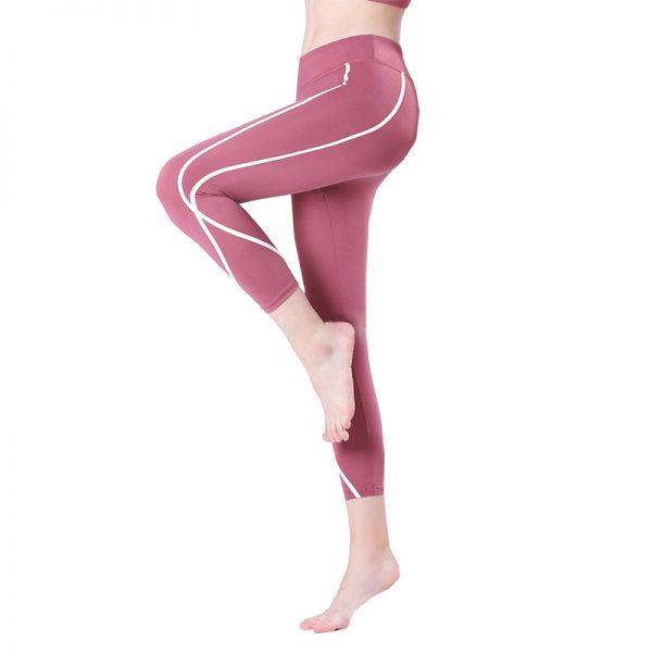 Quần legging lửng shaping hồng