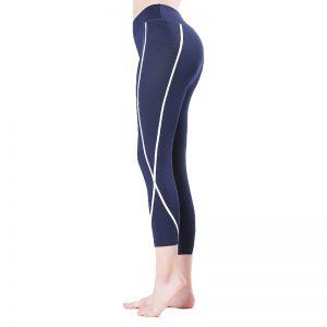 Quần legging lửng shaping xanh đen