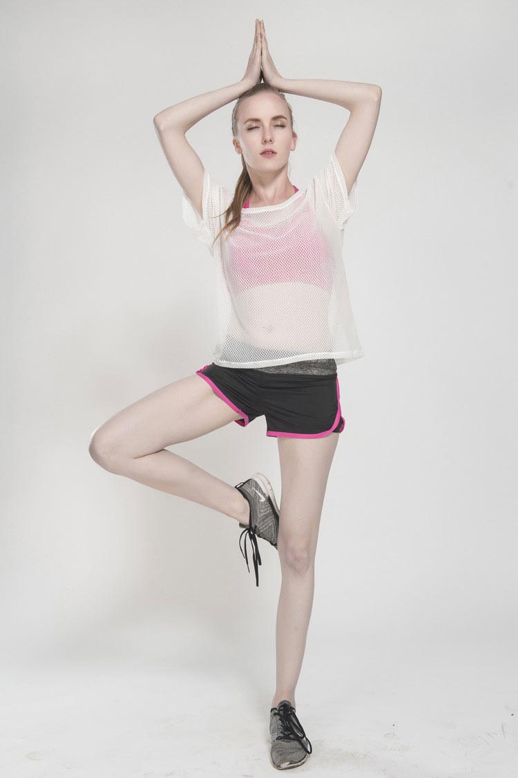 áo lưới mặc ngoài tập gym yoga