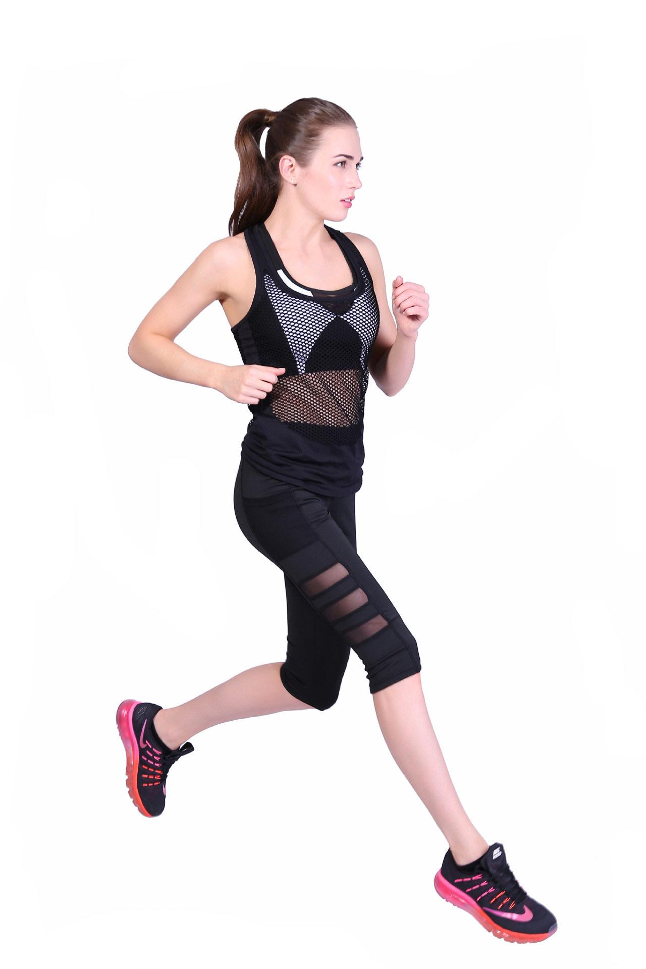quần legging lửng lưới grid