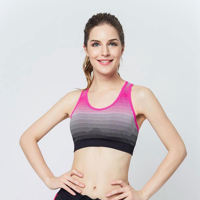 áo ngực thể thao 360s strappy hồng