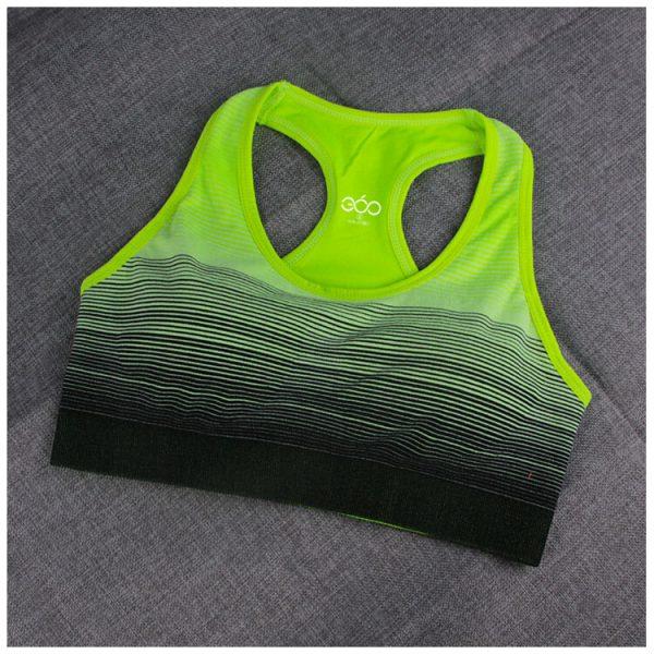 áo ngực thể thao 360s strappy xanh dạ quang