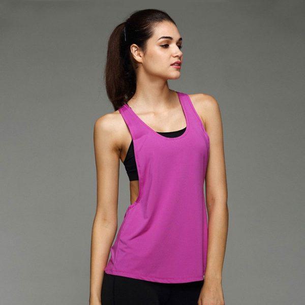 áo tank top mặc ngoài tập gym yoga nữ 360s streacker màu tím