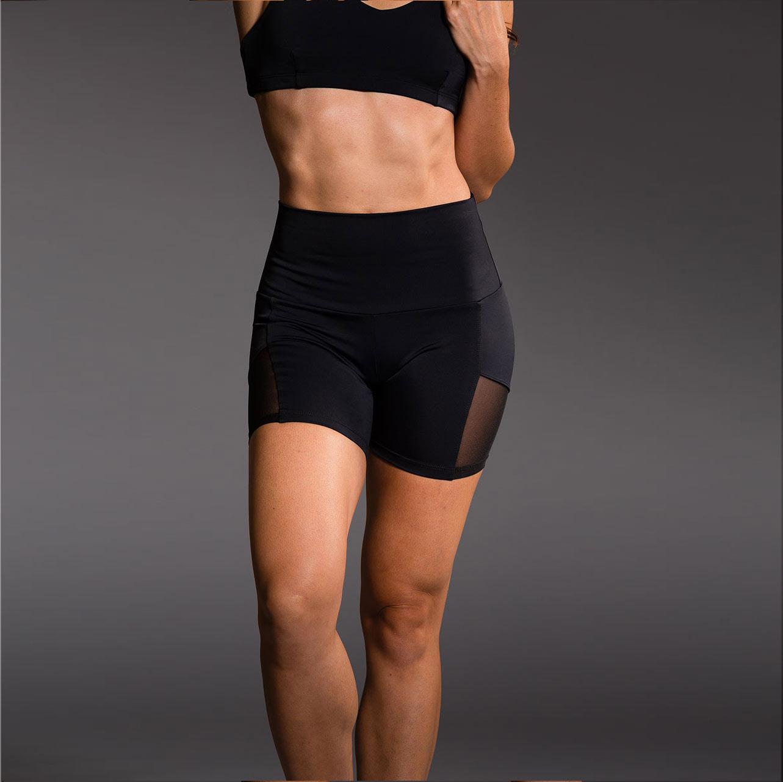 quần short nữ 360s tempo training lưới đen