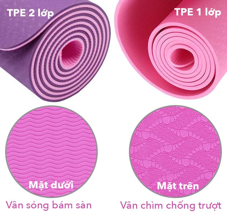 tính năng của thảm tập yoga tpe
