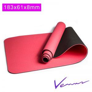 thảm yoga venus đỏ 8mm 2 lớp