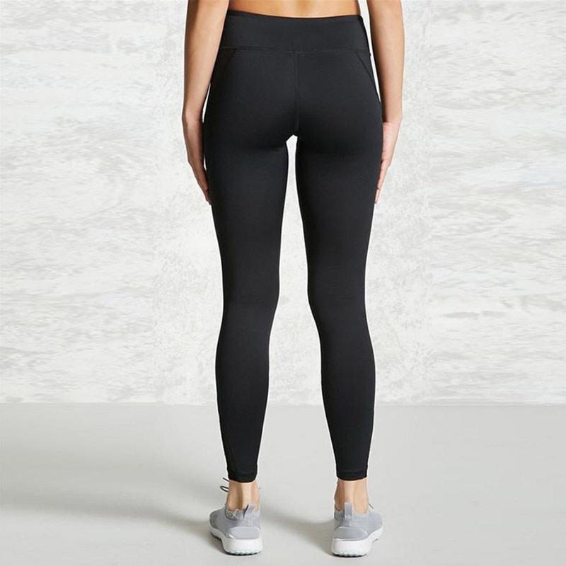 quần legging nữ Meshed Active đen phối lưới