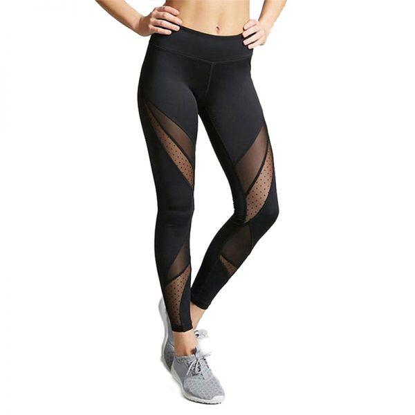 Quần legging meshed active màu đen