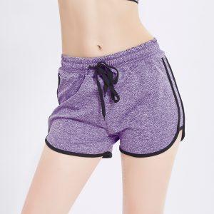 Quần shorts curl tím