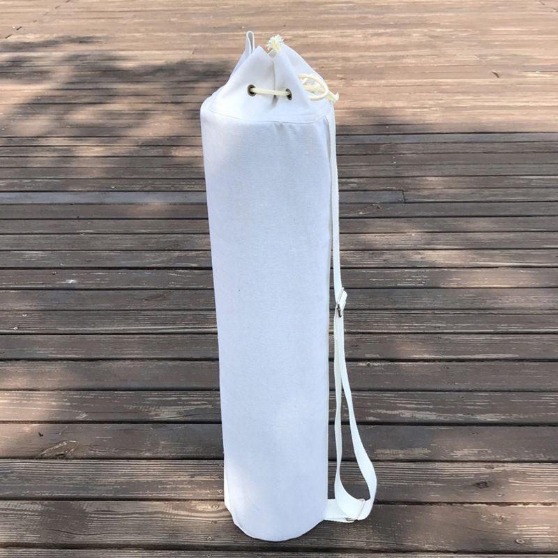 Túi đựng thảm yoga canvas màu trắng