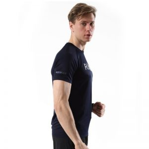 Áo thun thể thao running màu xanh đen