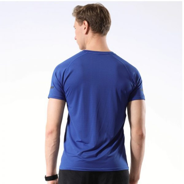 Áo thun thể thao running màu xanh dương