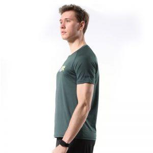Áo thun thể thao running màu xanh rêu